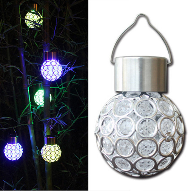 led christmas lights 2017 new solar ball garden hang outdoor landscape color change led lamp walkway