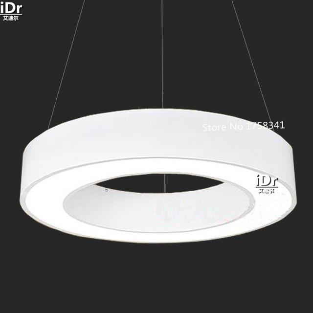 Anneau De Cercle Blanc Lumière LED Moderne Minimaliste élégant Salon  Chambre Restaurant Lumières Lustres Rmy