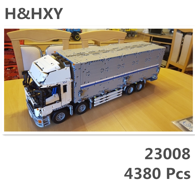 IN STOCK LEPIN 23008 4380pcs technic series MOC truck Model Building blocks Bricks kits Compatible boy birthday gifts 1389