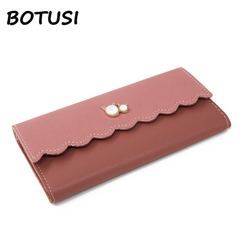 BOTUSI 2018 New Fashion PU Leather Rfid Wallet Long Leather Credit Card Holder Kartvizitlik Women Tarjetero Portafoglio Uomo