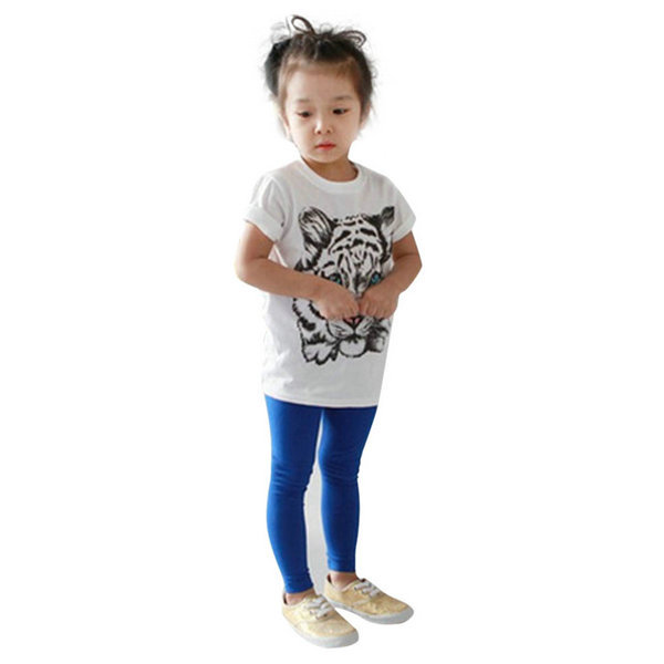 Stylish Baby Girls Kids Korean Tiger Printed Casual T-shirt Cotton Shirt Clothes