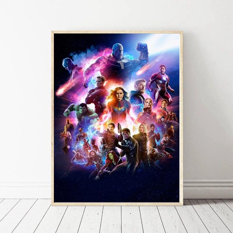 Avengers Endgame Movie Art Silk Poster Home Decor