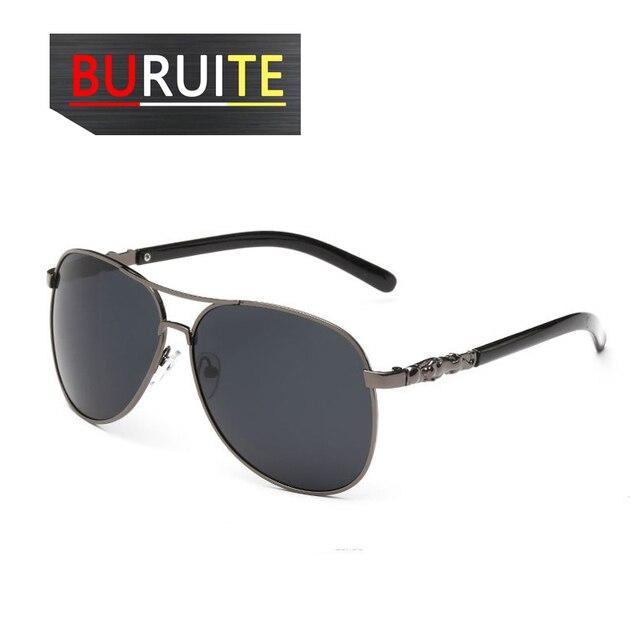 BURUITE-gafas de sol polarizadas clásicas para hombre y mujer, lentes de visión nocturna para Conductor, para conducir 6