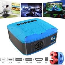 U20 Mini Projectors USB HDMI AV Video Portable Projector For