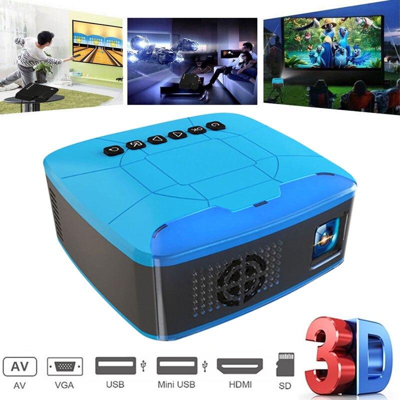 U20 Mini projecteurs USB HDMI AV vidéo projecteur Portable pour cinéma maison cinéma projecteur projecteur