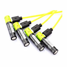 4pcs/lot AAA li-polymer Rechargeable Battery with USB Charging Cable ZNTER 1.5V 400MAH Rechargeable Lithium Battery Charger Sets(China)