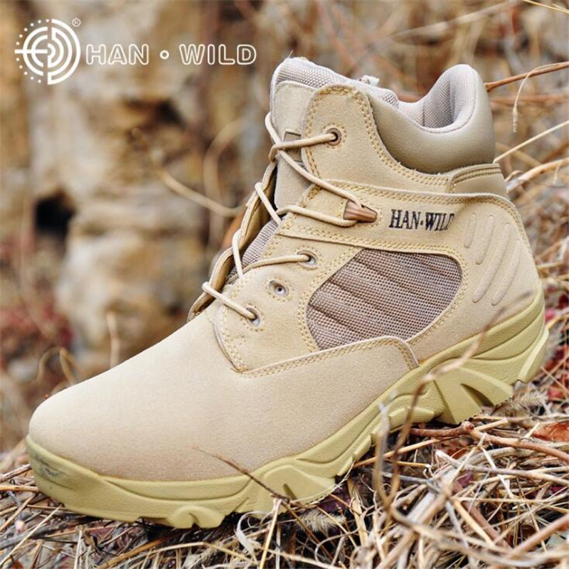 Autumn Winter Men High/Low Top Army Boots Mens Military Boots Quality Shoes Special Force Tactical Desert Combat Ankle Boats
