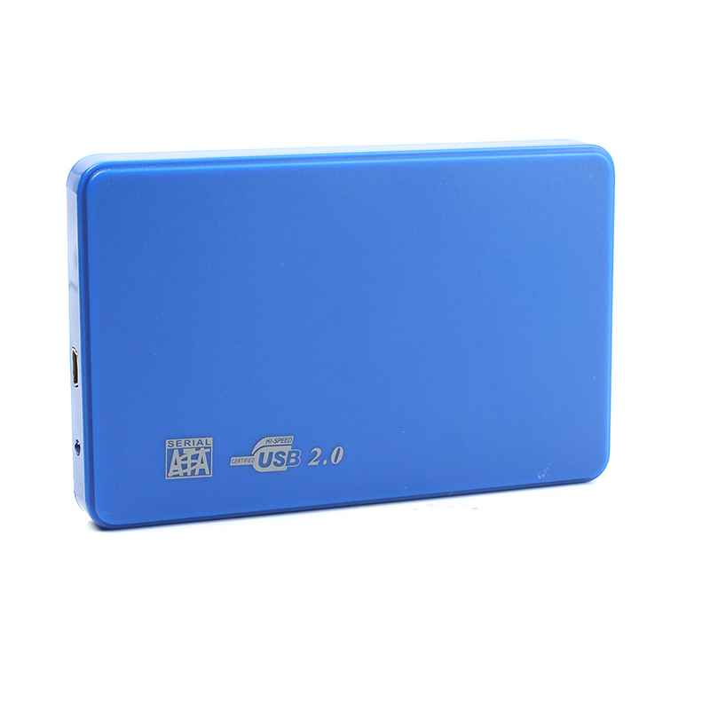 Cool Hi-speed USB 2.0 SATA 2.5 Portable HDD Hard Disk Drive 500GB Enclosure HD Box #75437 sata usb 3 0 blue orange hdd case with 250g hard disk heating release rubber case 2 5 fast reading speed case