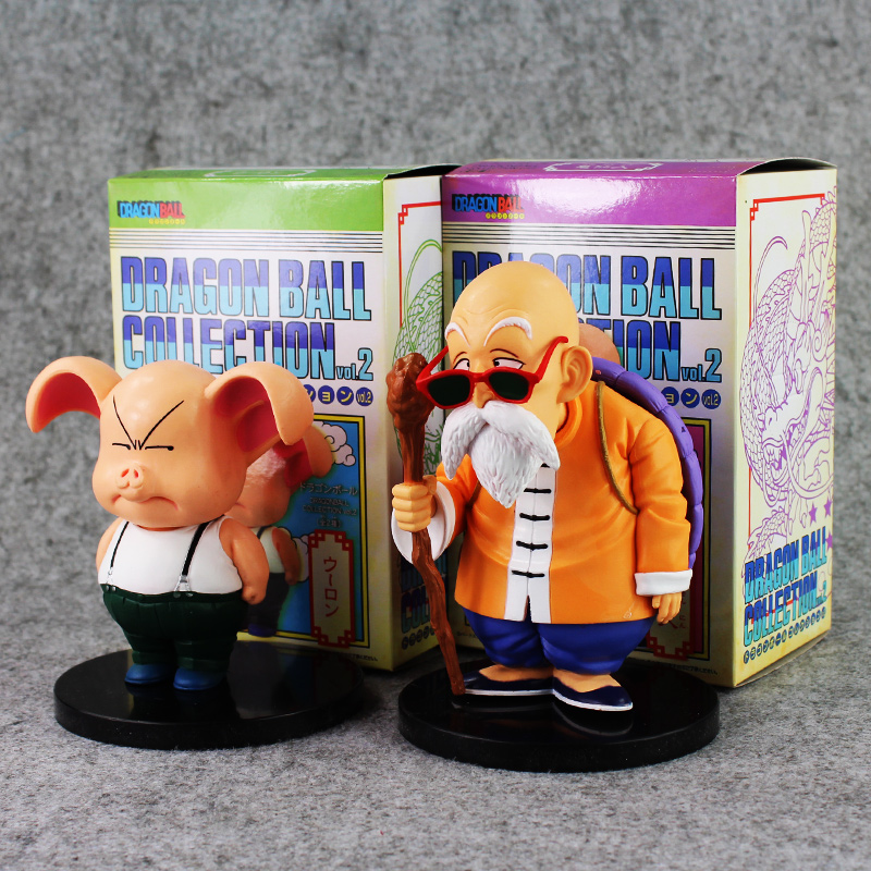 2pcs/lot Dragon Ball Anime Master Roshi Kame Sennin & Oolong Boxed PVC Action Figure Collection Model Dolls Toy free shipping anime dragon ball master roshi pvc action figure collection model toy 25cm orange new loose