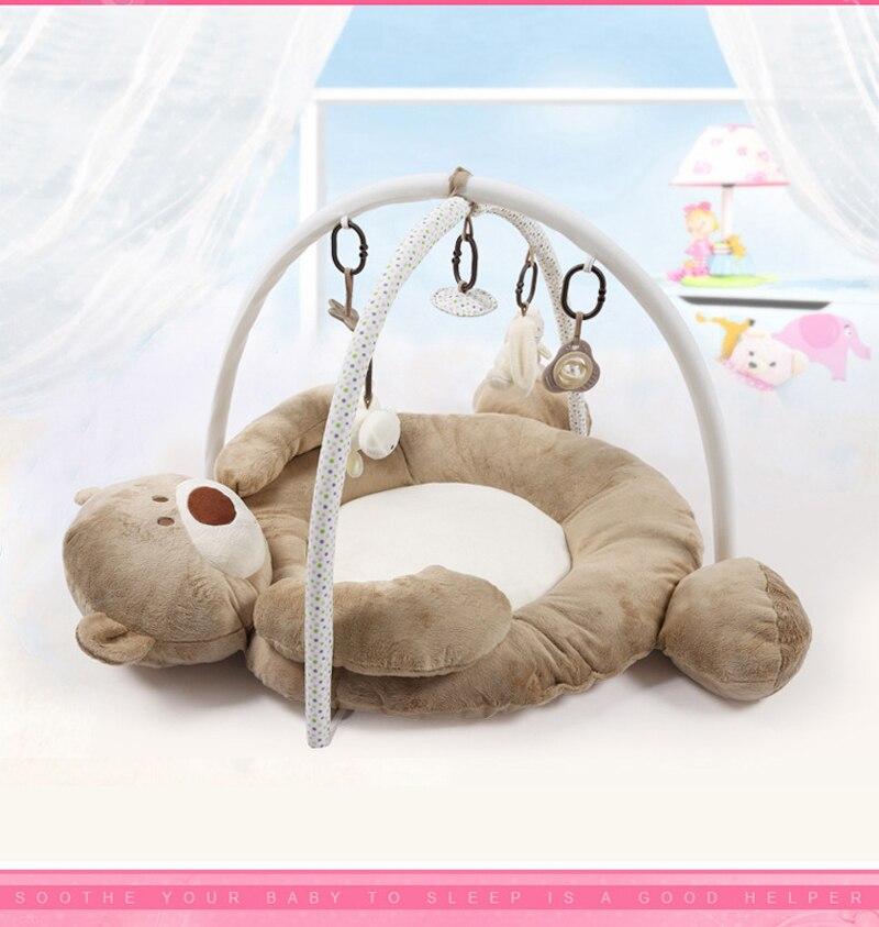 Doux bébé tapis de jeu 0-12 mois bébé jouets éducatifs tapis de jeu enfants tapis Tapete Infantil Cattoon ours YX11