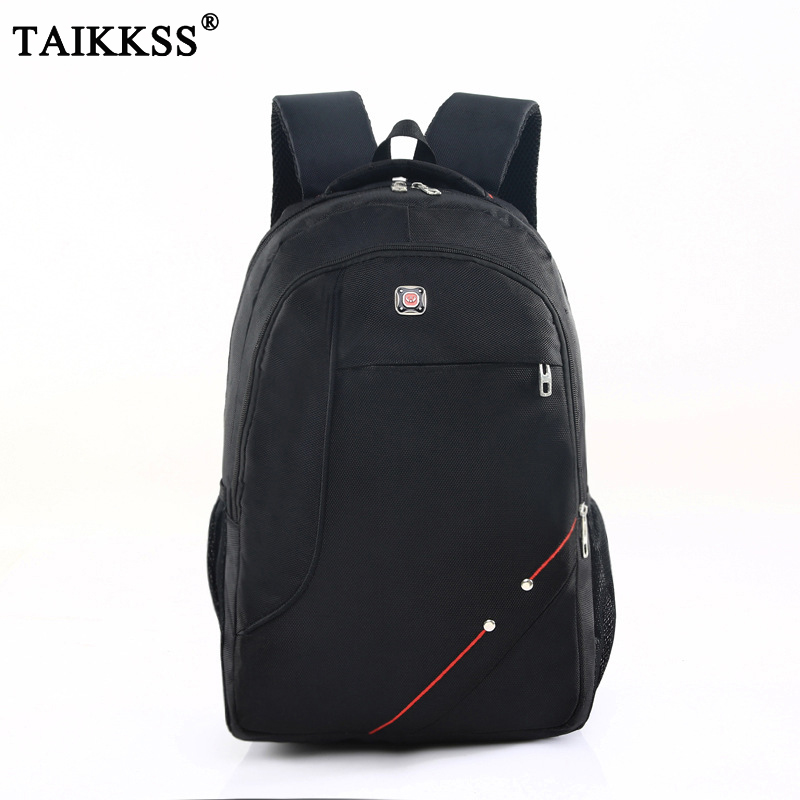2018 New Trend Casual Men Laptop Backpack Student School Bag Travel Nylon Backpack Men Notebook Computer Bag Black High Quality 17inch laptop backpack notebook hand bags men s computer bag laptop bag travel nylon backpacks business bag cf1718