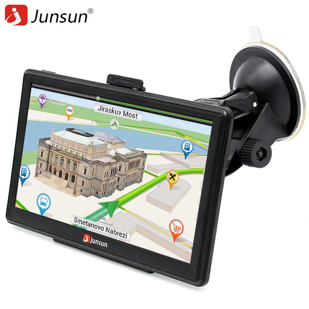 Junsun  Inch Hd Car Gps Navigation Bluetooth Avin Capacitive Screen Fm Gbmb Vehicle Truck Gps Europe Sat Nav Lifetime Map
