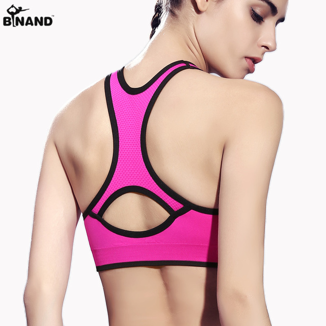 673e5f2fe8e79 Gym Running Shockproof no rims Women vest Push up Racerback Yoga Top Fitness  Seamless Workout Solid Heart-shaped Sports Bra