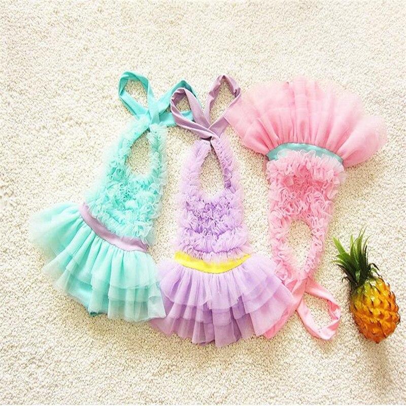 2017 children swimwear infant Korean version of the skirt piece of swimwear girl cute baby small bathing suit children of rhatlan