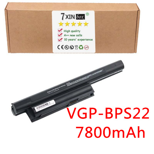 9-Cell 7800mAh Battery for SONY VAIO VGP-BPS22 VGP-BPS22A VPC-EB2 VPC-EA1 VPC-EA2 VPC-EA3 VGP-BPL22  VGP-BPS22/B VGP-BPS22/S аккумулятор tempo bps22 nocd 11 1v 4400mah для sony vaio vpc e1 vpc ea vpc eb vpc ec vpc ee vpc ef vpceb20 vpcec20 vpcee20 vpcef20 series