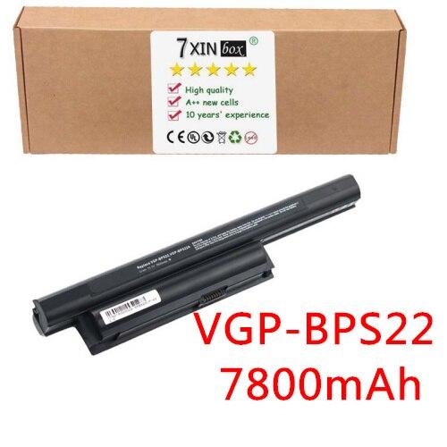 9-Cell 7800mAh Battery for SONY VAIO VGP-BPS22 VGP-BPS22A VPC-EB2 VPC-EA1 VPC-EA2 VPC-EA3 VGP-BPL22  VGP-BPS22/B VGP-BPS22/S клавиатура для ноутбука for sony sony vpc eb 148793211