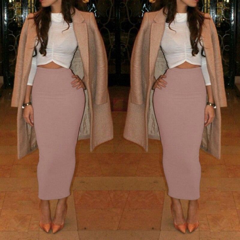Aliexpress.com : Buy Women High Waist Office Pencil Skirt Straight ...