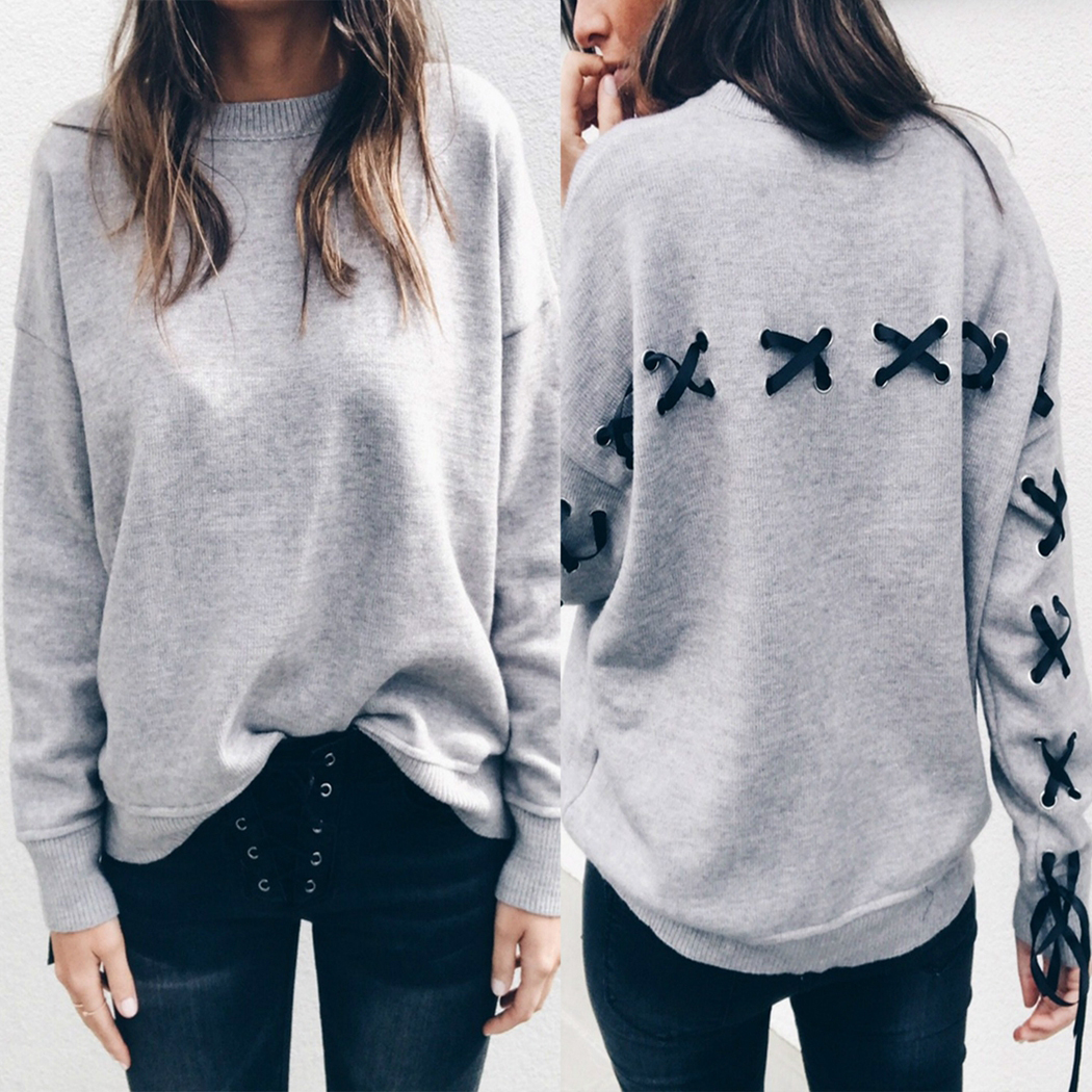 Women Hoodies Autumn And Winter New Personality Tie Bow Long-Sleeved Fashion Hot Sale High Quality Soft And Comfortable