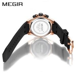 Image 3 - Мужские часы megir Quartz из розового золота, светящиеся водонепроницаемые спортивные часы, наручные часы с хронографом Erkek Kol Saati Montre Homme