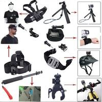 LANBEIKA Handlebar Helmet Sports Head Chest Mount Selfie Monopod Handheld For Gopro Hero 6 5 4 3 3+ SJCAM SJ4000 SJ5000 SJ6 SJ7