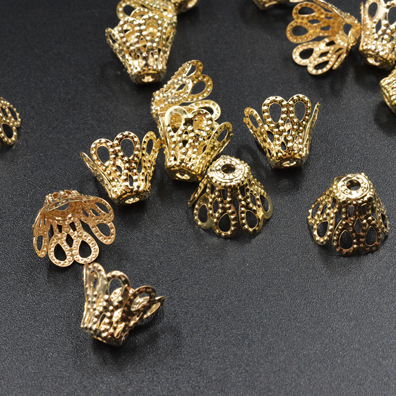 FLTMRH 270Pcs Cone Filigree Bead Caps Findings 8*7mm Jewelry Findings Making End Caps FAST SHIP Wholesale lake baby 0 36 months breathable front facing baby carrier 4 in 1 infant comfortable sling backpack pouch wrap baby kangaroo new