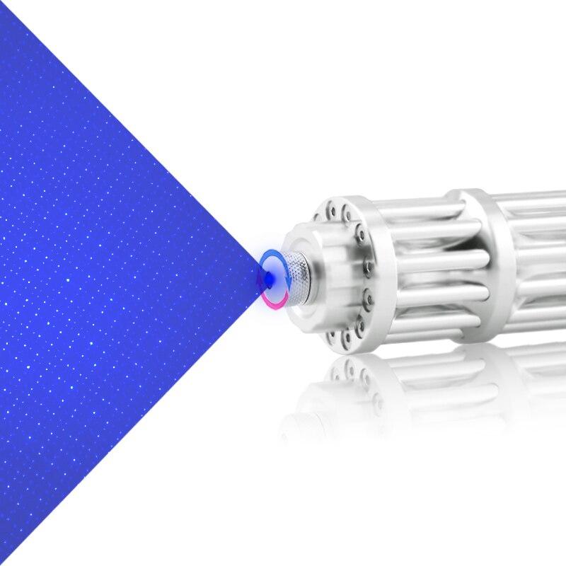 CWLASER 450nm фокус Гатлинга Форма Синий лазерная указка + защитные очки (серебро)