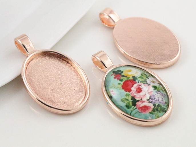 5pcs 18x25mm Inner Size Rose Gold Classic Style Cameo Cabochon Base Setting Charms Pendant necklace findings (C2-54) 3pcs 18x25mm inner size antique silver brooch pin classic style cameo cabochon base setting c2 30