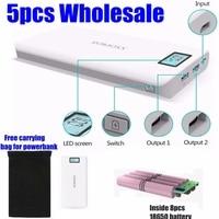5pcs Romoss 20000mah Power Bank 20000 Mah Sense 6 Plus 18650 Powerbank 2 1A With Display