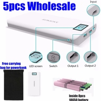 5pcs Romoss 20000mah Power Bank 20000 Mah Sense 6 Plus 18650 Powerbank 2 1A With Display