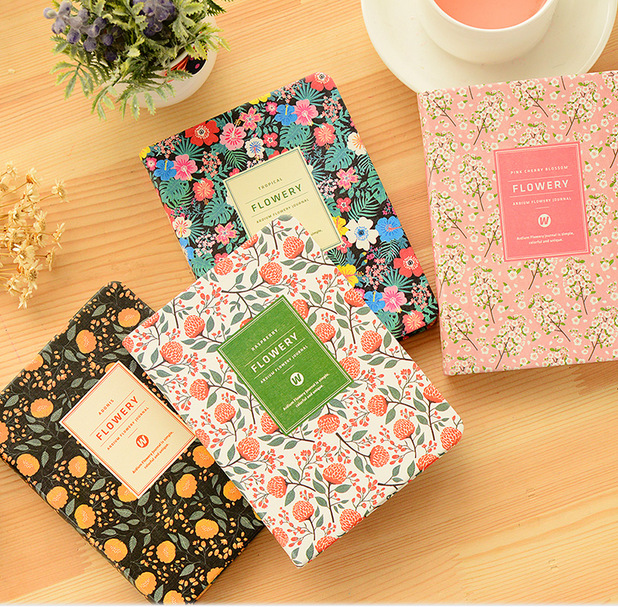 PU Leather Floral Flower Schedule Book Diary Weekly Planner Notebook Material Escolar School Office Supplies Stationery 01605 the vampire diaries notebook gift diary note book agenda planner material escolar caderno office stationery supplies gt090