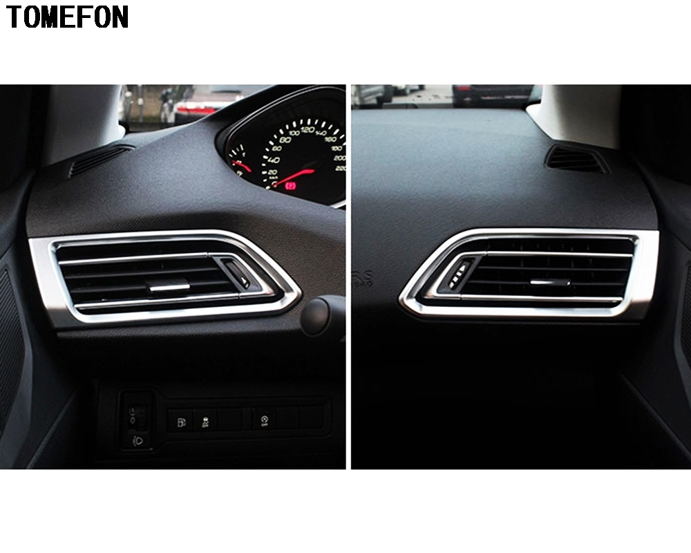 For Peugeot 308 Hatchback 2014 2015 2016 Second generation T9 SW Rear View 5door Front Air conditioning AC Outlet Cover Trim for peugeot 207 sw estate wk