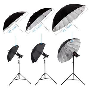 """Image 5 - Godox 150 cm 60 """"Inches Fotografie Studio Paraplu voor Fotostudio van Zachte Verlichting Out In Zwart Binnenkant Van Zilveren Paraplu"""