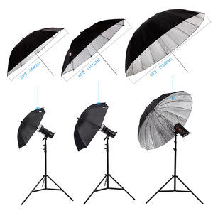 """Image 5 - Godox 150 cm 60 """"Inches Photography Studio Umbrella for Photo Studio of Soft Lighting Out In Black Inside Of Silver Umbrella"""