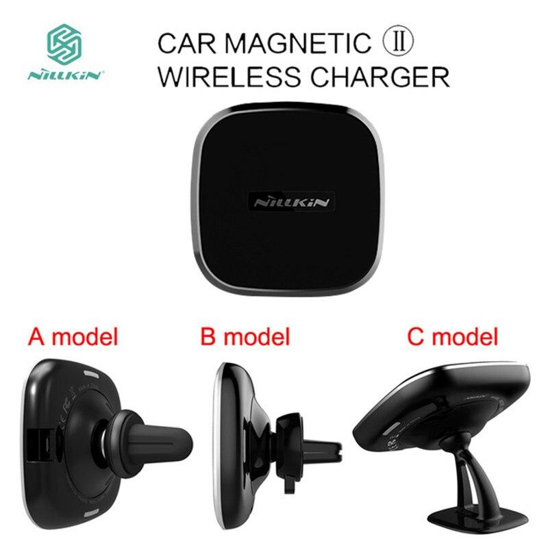 Magnético del coche de Nillkin Qi II cargador inalámbrico para Samsung Galaxy S7 borde S8 S9 más Nota 8 aire montaje para el iPhone X