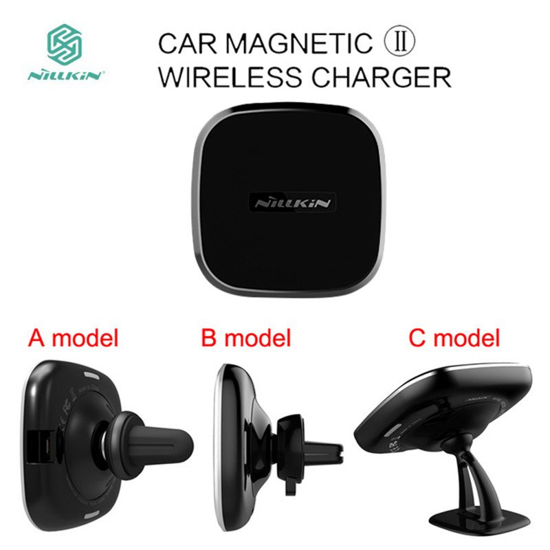 NILLKIN QI автомобиля Магнитная II Беспроводной Зарядное устройство для samsung Galaxy S7 край S8 S9 плюс Примечание 8 держатель Air Vent Pad для iPhone X