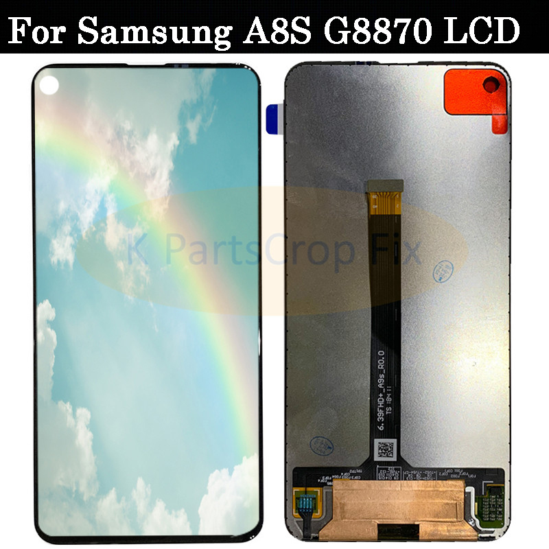 6 4 For SAMSUNG Galaxy A8S G8870 SM G8870 SM G887FZ G887FZ LCD Display With Touch