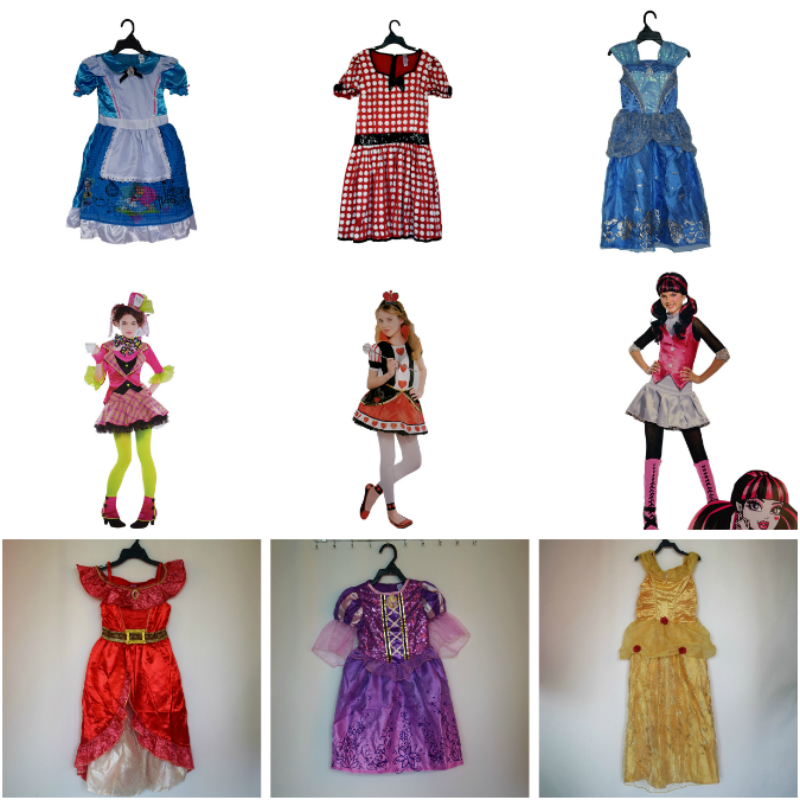 Anime Cosplay for Artoon Princess Snow White Dress Baby Girl ClothesVestidos Costume for Children in Halloween Carnaval Party
