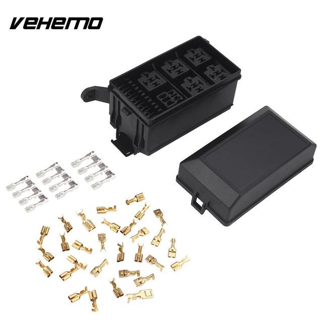 us $11 0 15% off aliexpress com buy 1 set premium black car fuse box 6 relay 5 road block holder replacement durable engine compartment for nacelle Fuse Box Wiring