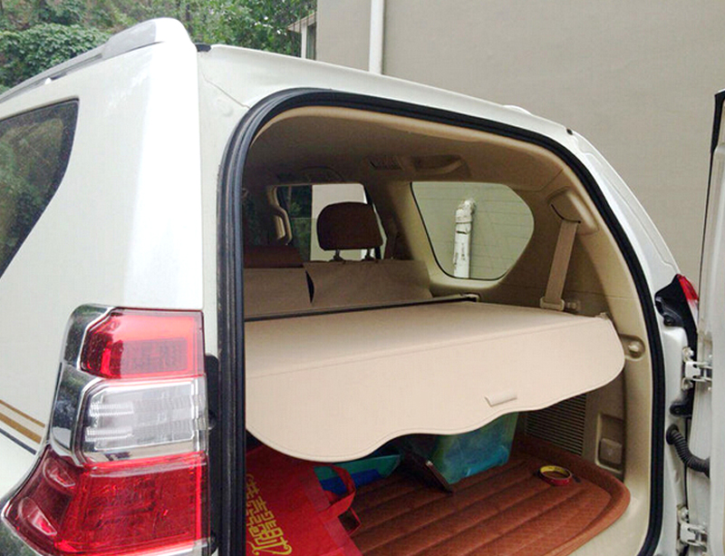 10-13  For Toyota Land Cruiser Prado FJ150 2010 2011 2012 2013 Quality   Beige Rear Cargo Cover Trunk Shade Security car rear trunk security shield shade cargo cover for volvo xc60 2009 2010 2011 2012 2013 2014 2015 2016 2017 black beige
