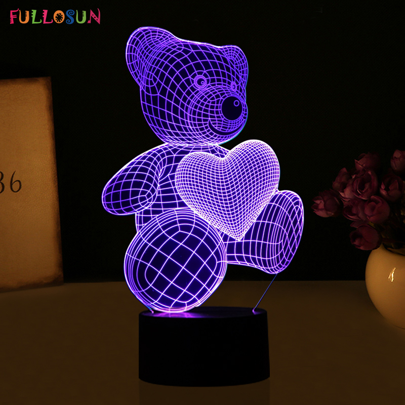 HTB1Bm4GRVXXXXX6XVXXq6xXFXXX6 - Lampka Nocna Led 3D Miś