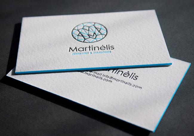 Letterpress Business Cards Duplexed 600gsm Cotton Paper
