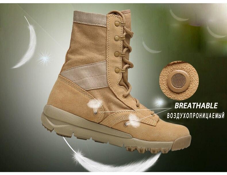 0fbf17024da FLASH SALE] 2019 Flock lace up army ankle boots men fashion high ...