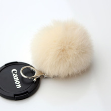 Ring Fob Bijouterie Trinket Ornament Accessory Rabbit Fur Ball Cell Phone Car Keychain Keyrings Pendant Handbag Charm Key Chain