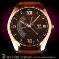 2016 yazole relógio de quartzo homens top marca de luxo relógios de pulso de 3 segundo negócio de quartzo-relógio de pulso masculino relogio masculino