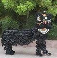Traje chinês dança do leão para dois homens lione chinês festivo roupas dançarina trajes dançarino trajes leão branco traje cosplay
