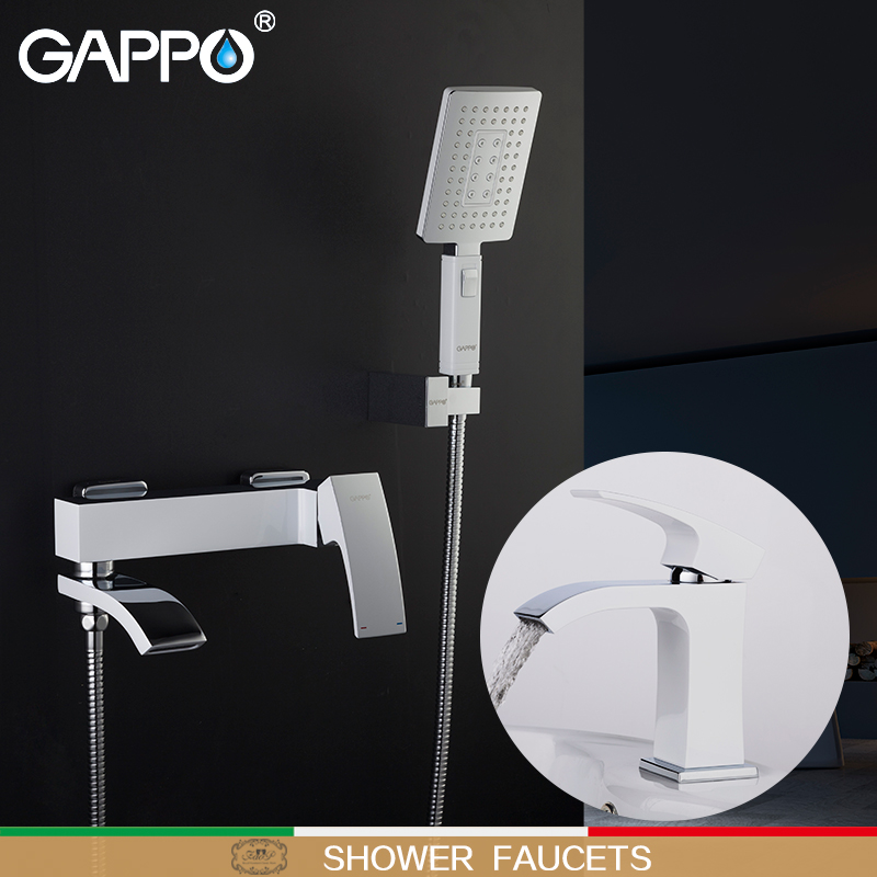 GAPPO Shower Faucets  bath tap mixer shower mixer basin faucet waterfall faucet water taps basin tap Sanitary Ware Suite