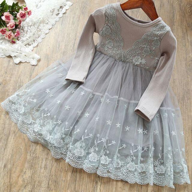 Winter Autumn Long Sleeve Children Girl Dresses Casual School Dress for Girls Fancy Dress Kids Girl Party Wear Clothing 3 8T 4