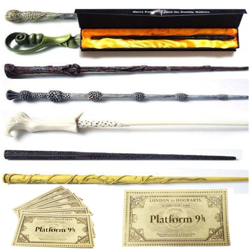 25 Kinds Of Harri Potter Magic Wands With Box & Hogwarts London Express Replica Train Ticket /Any Other Wands Also Can Ask Us