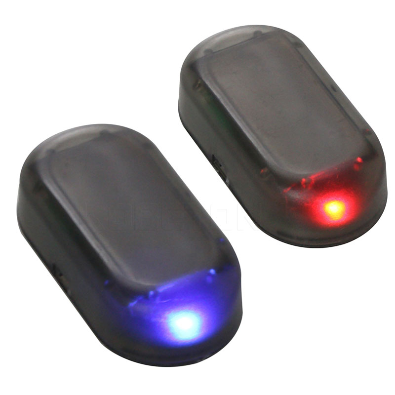 Honesty Kebedemm Car Warning Signal Led Light Security System Warning Theft Flash Blinking Fake Solar Car Alarm Led Light Home