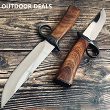 Military FIXED BLADE KNIFE for Outdoor Hunting Tactical Combat Rambo Knives Survival Camping EDC Fighting Bowie Knifes Fishing